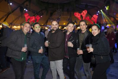 Some friends at the New Year's Eve party in Barcelona.