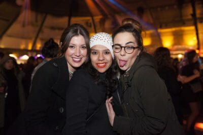 Some friends having so much fun at the New Year's Eve party in Barcelona.