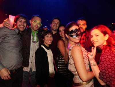 Friends at the New Year's Eve party in Barcelona.