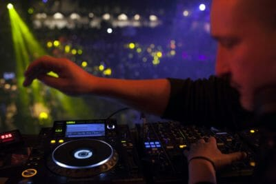 DJ set at the New Year's Eve party in Barcelona.