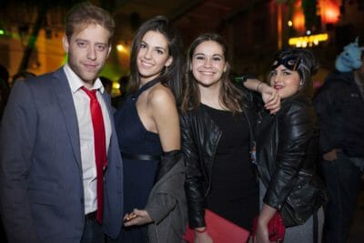 A group of friends at the New Year's Eve party in Barcelona.